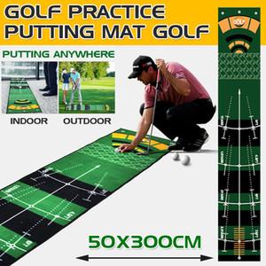 Tapis de golf extérieur intérieur Mini Mini-Pad de bille Tapis de pratique lavable antidérapante Vert Pratique Golf Mat 201124