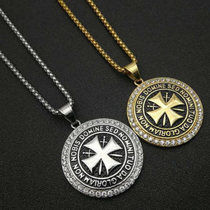 Stainless steel Knights Templar pendant necklace