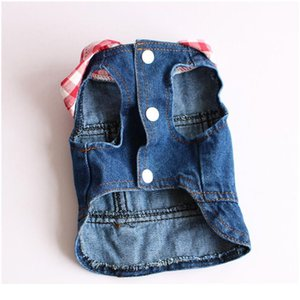 Water Wash Old Jean Small Dog Clothes Puppy Dog Jacket Vest Cowboy Pet Coat Plaid Hoodie Clothing For Small Med qylGCr