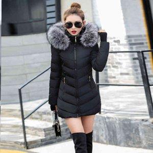 Женская зимняя куртка, длинный хлопок стеганая горячая, толстая, стильная, 2021 женщина