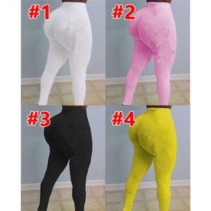 Plus size 2XL Women leggings casual solid color Pants skinny yoga leggings black stretchy sports pants summer clothing DHL Ship 3731