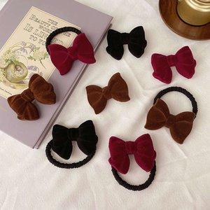 Velvet French Butterfly Nudo Cuerda Simple y Versátil Círculo Círculo Banger Accesorios para el cabello Tocado