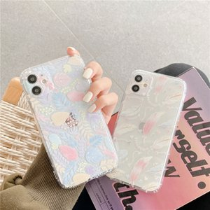 Симпатичные цветные окраски перо листья чехол для телефона для iPhone xs 12 mini 11 pro max 7 8 плюс SE 2020 x XR мягкий силиконовый четкий чехол