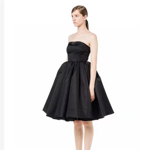 Mulheres festa vestido strapless sem mangas para senhora slim vestidos com zíper ajustar noite sexy club dress saias fofas