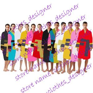 Brand Designer Sleepwear Gowns Bathrobes Unisex 100% Cotton Night Robe Luxury Robe Breathable Elegant Women Clothing Good Quality k1739