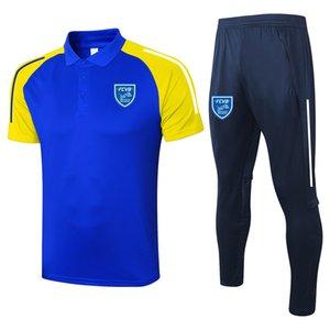 2021 FCVB Villefranche с короткими рукавами рубашка поло наборы футбольный костюм спортивные трикотажные изделия для взрослых футбол Polos и брюки наборы мужские трексуиты