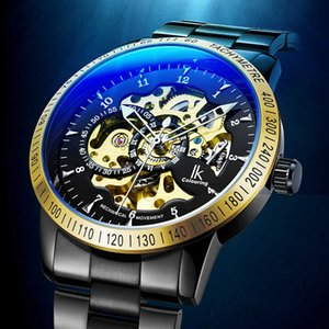 A1ik Apache Automatic Hollow Out Mechanical Bottom Through Casual Men's Watch 98226a1