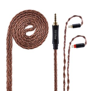 Headphones & Earphones HiFiHear 8 Core Silver Plated Upgraded Cable 2.5 3.5 4.4mm Balanced With MMCX 2pin Connector For HQ8 HQ12 ZS10 ZS6 AS