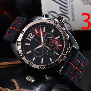 Brand Watch Men Multifunction Style Rubber Strap Quartz Wrist Watches 3 Dials can work TA89