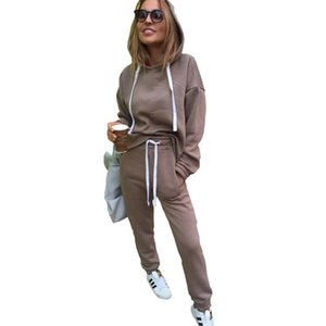 ss2020 Womens tracksuits Autumn Winter Irregular Solid Women's Outfits Long Sleeve Hoodies and Long Pants Two Piece Set Fitness Tracksuit