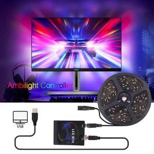 5V DIY TV USB LED Strip Ambient Controller HDTV Computer Monitor Backlight PC Dream Screen Light Box for Addressable LED Strip