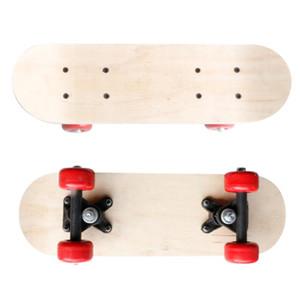 VKTECH 17inch Children Skateboard Double Deck DIY Longboard Roller Skate Boarding Toy Christmas Gift for Kids Boys Girls