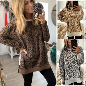 Wontive Women Winter Hoodies Leopard Printed Long Sleeve Sweatshirts Casual Fashion Streetwear Pullovers Tops Ladies Femme Tops1