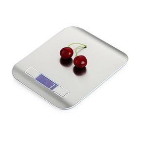 Escala de alimentos, Peso de la cocina digital Gramos y onzas para cocinar para hornear Scales de dieta de plataforma de acero inoxidable JK2005XB