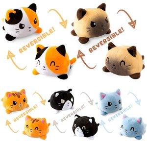 DHL créatif réversible retournement chat poupée poupée peluche accessoires house fantaisie mignon animal cadeau cadeau enfant peluche jouets