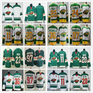 2021 Reverse Retro Minnesota Wild 11 Zach Parise Ryan Suter 36 매트 Zuccarello 22 Kevin Fiala 24 Matt Dumba 97 Kirill Kaprizov Hockey Jersey