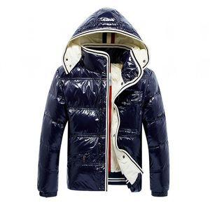 Зимняя куртка для зимы теплые мужчины пухлые куртки толстые дизайнер с капюшоном густые пальто мужские женщины пары глянцевые парки Parka размер S-XXL