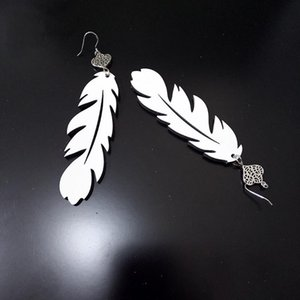 2021 Fashion 14 styles sublimation blank Earrings Double-sided sublimation leaves shape eardrop with DIY earring gift party favor 276 S2
