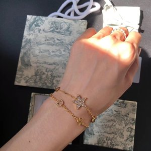 Fashion link bracelet with star or letter women wedding lovers gift engagement luxury jewelry