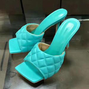 عالية الكعب البغال 2020 لون الحلوى الصيف الشريحة النعال اللباس شعرية الصنادل التطريز شاطئ أحذية النساء زائد حجم الأحذية المطر ل wo f4ql #