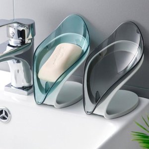 Soap Dishes 1 2Pcs Cute And Fresh Leaf Shape Safe Durable Container Holder Bottom Suction Cup Design Bathroom Accessories