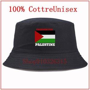 Широкие шляпы Brim Freedom для палестинского флага Черных мужчин и женщин Повседневная шляпа скейтборд Молодая мода улица личностный рыбак