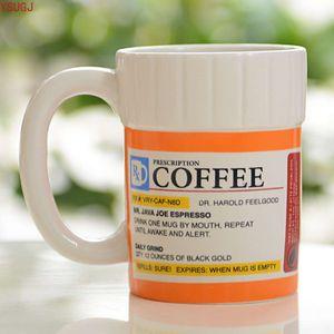 Creative Prcription Coffee Mug Ceramic Pill Bottle Cup Pharmacy Rx Coffee Water Milk Cup Hospital Office Drinkware Travel Mugs