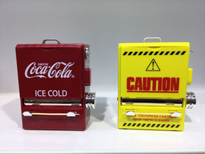 Personality Retro-Cola Toothpick Box Vending Machine Style Pressing Toothpick Case Dispenser Plastic Holder Ornament