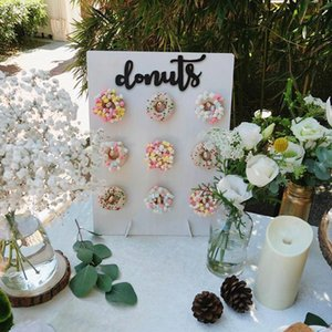 Wooden Donut Wall Stand Doughnut Holder Donuts Spring Wedding Decoration Accessories Baby Shower Kids Birthday Party Decor