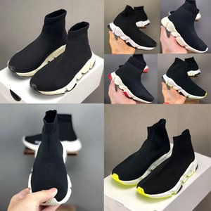 Top quality Paris Kid Sock shoes sneakers Speed Boy Girl Runners Trainers Knit Socks Triple S Boots Runner kisd shoes size
