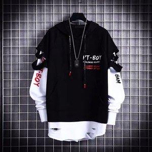 Hoodies Male Hip Hop Punk Streetwear Pullover Fashion Casual Sweatshirts Black Color Sweatshirt Hot Spring Autumn Boy Girl Topfree shipp