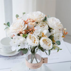 1 Bunch Artificial Flowers High Quality Bouquet for Home Decoration Accessories Diy Wedding Supplies Photo Props Houseplant Gift