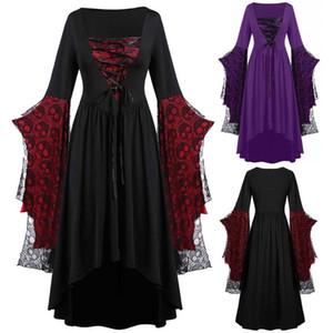 Ladies Gothic Vintage Lace Patchwork Women Dress Plus Size Goth Bandage Ladies Spaghetti Strap Dresses 5XL femme Vestidos