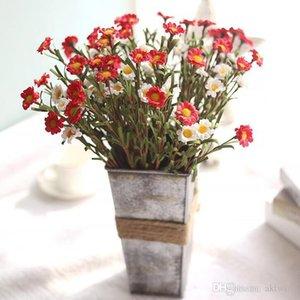 Reine farbe künstliche echte touch blumen blasen blume seide gänseblümchen blumenstrauß flores hochzeit hause dekorativ wy305q