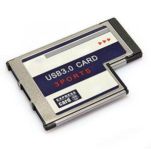 USB Expresscard Expansion Card 3 port USB 3.0 Expresscard 34 54 mm Expansion Card Expresscard to USB Adapter