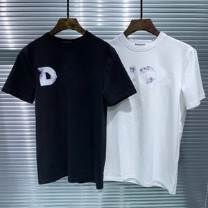 Men's Women Designer T-shirts Short Sleeve Cotton Blend for Summer Brand Fashion T shirt with Brand Letter Embroidery 2 colors Wholesale