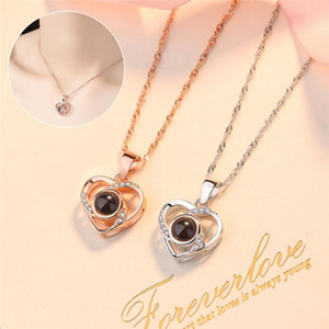 1PC Fashion Tiny Heart Dainty Necklace Gold Silver Color Choker Necklace for Women Pendant Jewelry Gift Jewlery Charms