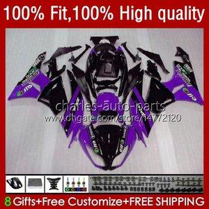 Bodys Injection For KAWASAKI NINJA ZX 6R 600 CC 6 R 636 ZX6R 09 10 11 12 13No.64 ZX600 ZX636 ZX-636 600CC 2009 2010 2011 2012 ZX-6R ZX600C 2009-2012 OEM Fairings purple blk