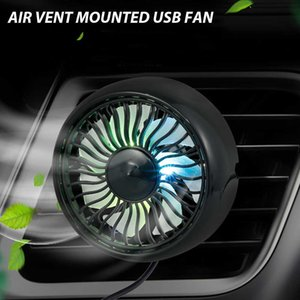 360 Degree Rotatable Auto Vehicle Air Conditioner Car Air Vent Mounted USB Cooling Fan Mini Electric Air Fan for SUV Truck