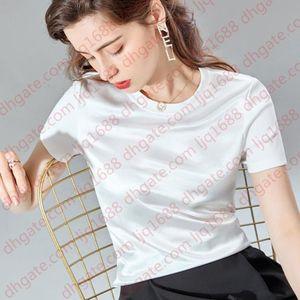 2021 Summer Oversized T Shirt Women Satin Silky Cool Fashion Short Sleeve Solid Tshirt Women Cotton Tops Ulzzang T-shirt Femme