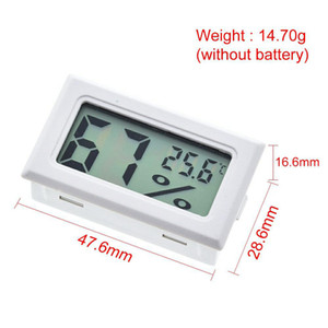 Digital Thermometer Hygrometer Mini LCD Humidity Meter Freezer Fridge Thermometer for -5070 Coolers Aquarium Chillers