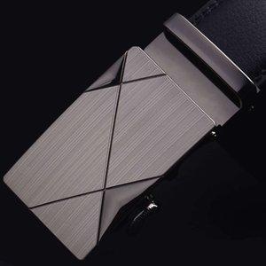 CKMN Marca Moda de alta calidad Mátil Macho Metal Automático Cinturones de cuero genuino Cinturón de pantalón de hombres