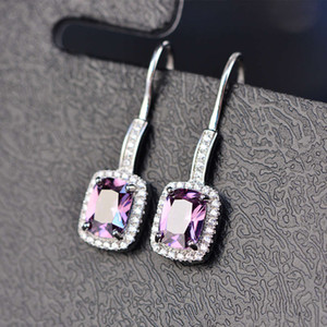 HBP fashion luxury jewelry new product big zircon classic hook temperament earhook Korean popular Earrings three colors
