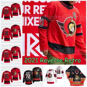Tim Stutzle Ottawa Senators 2021 Reverse Retro Jerseys Thomas Chabot Brady Tkachuk Cody Ceci Kevin Mandolese Jack Kopacka 콜린 화이트 하키