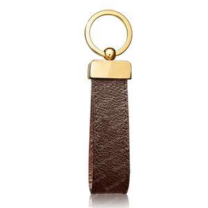 2021 Keychain Schlüsselanhänger Schnalle Liebhaber Auto Keychain Handgemachte Leder Schlüsselanhänger Männer Frauen Taschen Anhänger Zubehör 4 Farbe 65221 mit Box