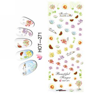 UPRETTEGO NAIL ART BEAUTY WATER DECAL SLIDER NAIL STICKER CARTOON MOUSE T SHIRT FLOWER JASMINE HOT271-276