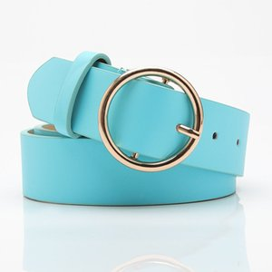 Gold Round Belts Girls Ladis Hot Casual Jeans Women Leather Pin Buckle Luxury Strap Simple Retro Belt for Woman