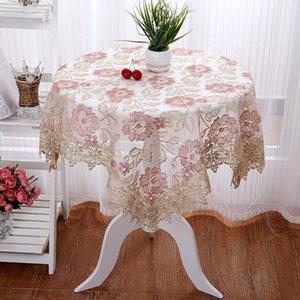 NIOBOMO Table de tissu multicolore en dentelle étanche de style européen de style européen pour la décoration de maison