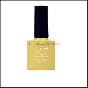 Nail Art Salon Health & Beautynail Polish Yellow Series Solid Color Potherapy Wash- Removable Esmalte Semipermanente Vernis Ongle Normal Dro