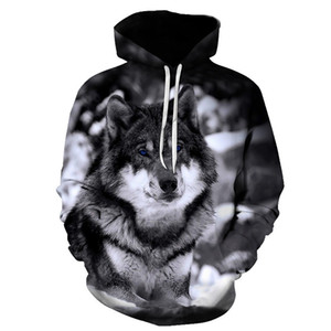 Biaolun New Wolf Hoodies Hombre con capucha Hombres Otoño Invierno Hip Hop Hoody Tops Casual Brand 3D Wolf Head Hoodie Sudadera S-6XL 201128